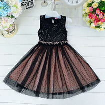 Vestido Niña Negro Tallas 6 8
