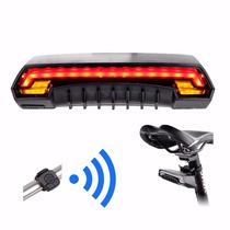 Lampara Bicicleta Direccionales Laser Control Remoto +regalo