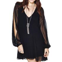 Vestido Corto Casual Sexy Negro Moderno Gotico