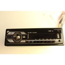 Auto Estereo 45wx4 Fm/usb/sd/mmc/mp3/aux Desmontable