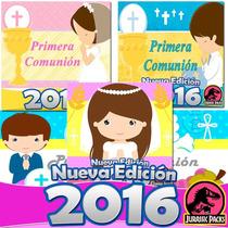 Primera Comunion Kit Imprimible Incluye Rosa Azul Nene Nena