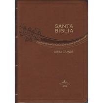 Biblia Letra Grande Imitación Piel Cafe Lila Reina Valera 60
