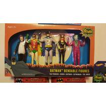 Batman Y Robin Set Figuras Flexibles Adan West No Hot Toys