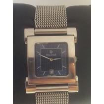 Reloj Suizo Pelletier, Acero Inoxidable. Extensible Tejido