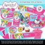 Kit Imprimible Kitty & Friends Tarjetas Invitaciones Cumplea