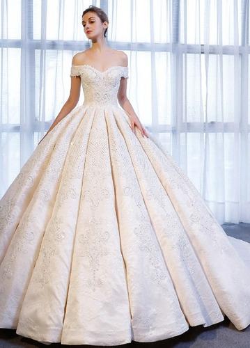 Vestido Novia Nuevo Bonito Elegante Princesa Iglesia Su 16