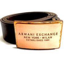 Cinturon Bronce Armani Exchange A/x Nuevo 100% Original