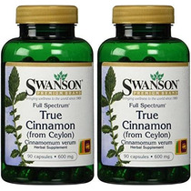 Swanson Marca Premium Verdadera Canela 600 Mg - 2 Botellas C