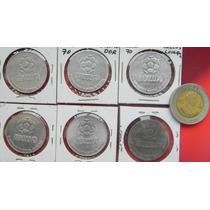 Medallas Mundial Mexico 6 Pzs Aluminio Diferente Paises1970