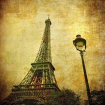 Lienzo Tela Torre Eiffel, Vintage 80 X 80 Cm