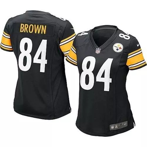 93c0d89a80398 Jersey Tipo Nfl Mujer Dama Antonio Brown Pittsburgh Steelers ...