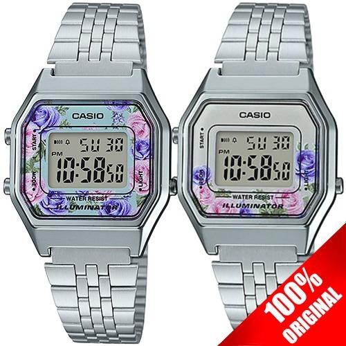 5100c43a1c82 Reloj Casio Retro Dama La680 Plata Flores - 100% Original en venta en  Cuauhtémoc Distrito Federal por sólo   739