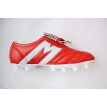 a8ea25ca6a97e Tacos Futbol Soccer Manríquez Sx Rojo Blanco 100% Piel en venta en ...
