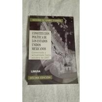 Libro Constitución Política De Los Estados Unidos Mexicanos.