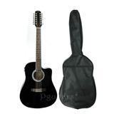 Guitarra 12 Cuerda Docerola Electroacustica Segovia Funda