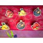 Angry Birds Set De Anillos Para Pastel