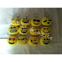 Lote 12 Llaveros Caritas Whatsapp Emojis Emoticonos Peluche
