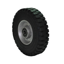 Rueda Hule Rin Aluminio 8 - Diablo Carretilla Plataforma