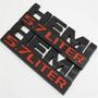 1pcs Negro Ram Hemi 5.7 Litro Logo Decal Motor Emblema Imper