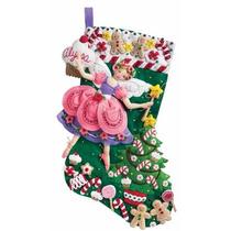 Bucilla Original. Bota Navideña Sugar Plum Fairy. Navidad