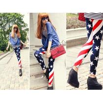 Leggins Mayón Bandera Estados Unidos Moda Japonesa