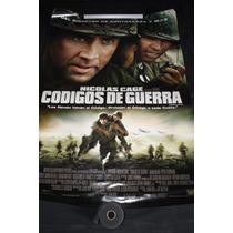 Poster Original, La Pelicula Codigos De Guerra Nicolas Cage