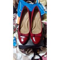 Elegantes Zapatos De Andrea Ejecutiva Color Rojo Nº 24 1/2