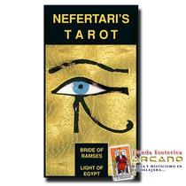 Tarot Nefertiti - 78 Cartas Con Bordes En Chapa De Oro