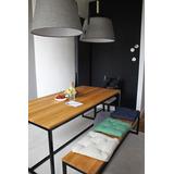 Mesa Con Banca Diseño Contemporáneo, Personalizada