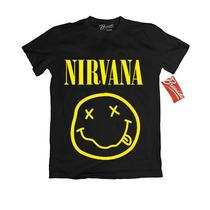 Playera Nirvana Oficial Rock Tallas Original Grupos Grunge