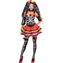 Disfraz Mujer Dia De Muertos Halloween Calavera Catrina