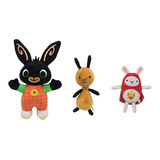 Bing Plush Hoppity Voosh And Flop Felpa 3pcs Conejo Ant Capa