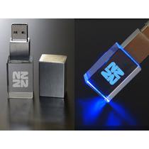 Usb Cristal Promocionales Con Grabado Laser