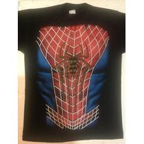 Playera Superhéroe , Spiderman, Disfraz Hombre Araña, Torso