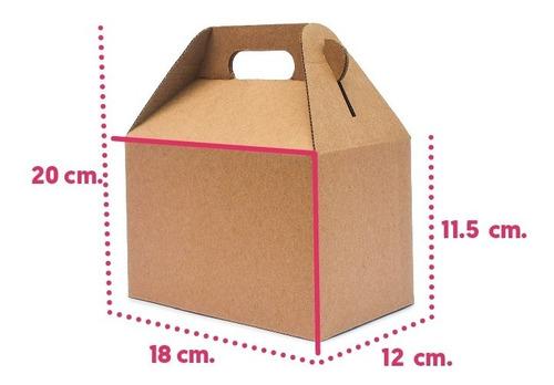 50 Caja Boxlunch Grande Micro Kraft