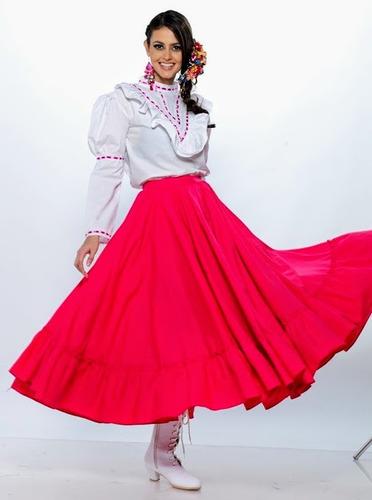 c975aebbc Falda Adelita Danza Doble Regional Folclorica Traje Disfraz en venta ...