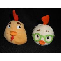 Peluches Monederos Chicken Little Y Su Papá , Miden 11cm