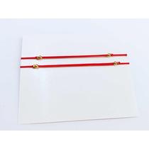 7a5ae1bfae50 Pulsera Hilo Rojo Corazon Baño Oro Amor Mayoreo Con Envio en venta ...