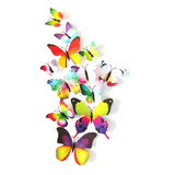 Mariposas Refrigerador Se Pega En Pared Decorativas Con Iman 1 Paquete De 12 Piezas