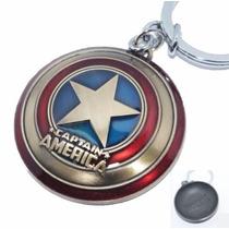 Llavero De Escudo Capitán América