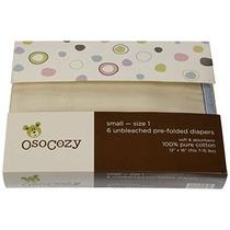 Osocozy Prefolds Sin Blanquear Pañales De Tela Tamaño 1 6 Co