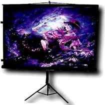 Pantalla Proyeccion Screen Multimedia Tripie Tela Blanco C