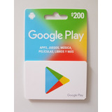 Tarjeta De Regalo Googleplay De 200