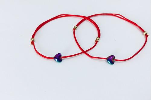 59542b2dddd8 Pulsera Hilo Rojo Destino Pareja Promesa Amor 2 Pulseras en venta en ...