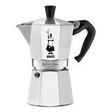 Cafetera Bialetti Moka Express 6 Cups Plata