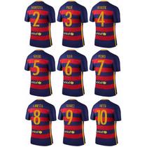 Jersey Barcelona 2015-2016 Messi Pique Iniesta Suarez Neymar