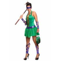 Oferta Disfraz De Tortuga Ninja Donatelo Para Damas Xs