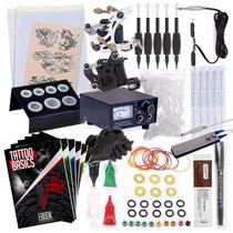 Tattoo Kit / Kit Para Tatuar 2 Maquinas 1 Fuente Agujas Etc