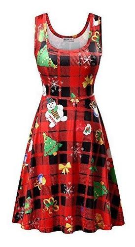 Huhot Vestidos De Navidad Para Mujer De Santa Claus Regalos