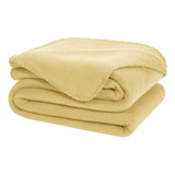 Cobertor Melocotton Merrow Matrimonial Beige Liso